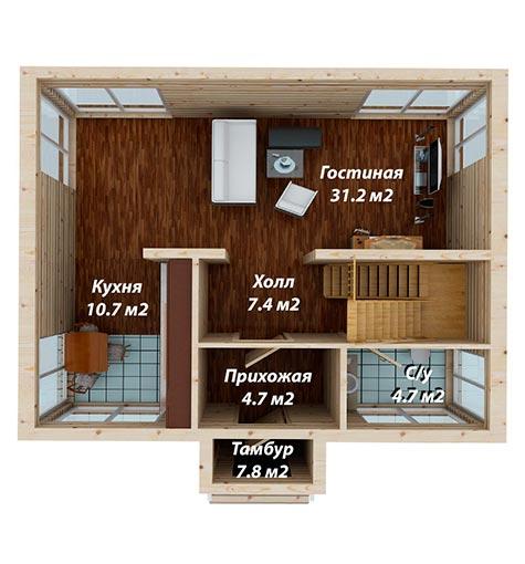 1 этаж схема строительство